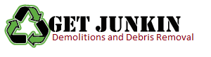 Get Junkin Demolitions and Debris Removal, logo